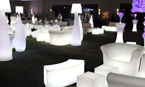 LED/Glow Furniture Rental Miami