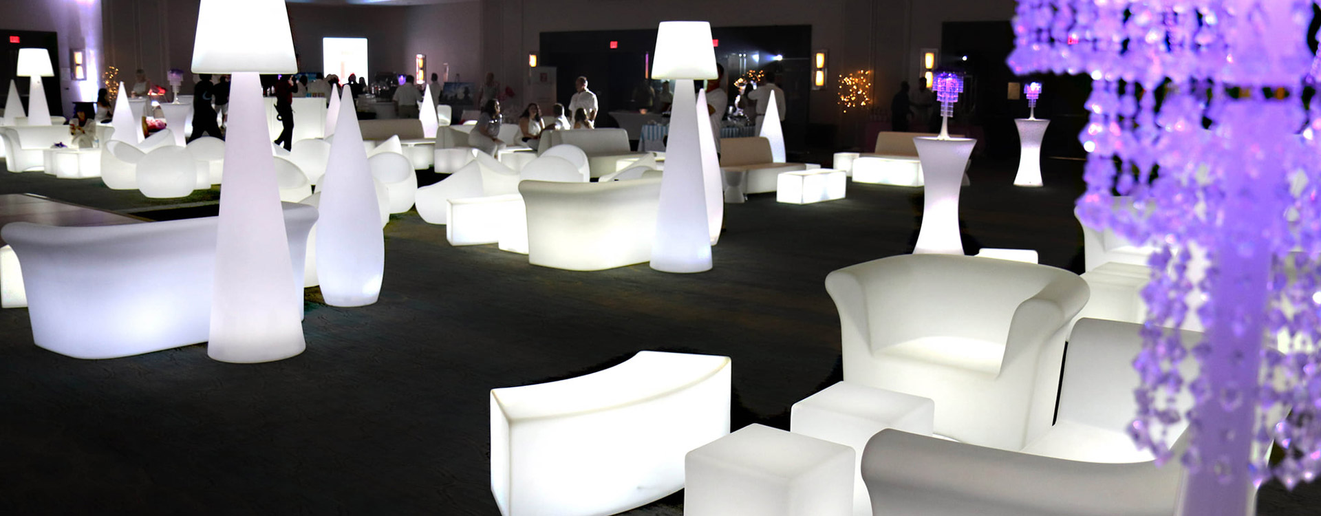 LED/Glow Furniture Rental Miami