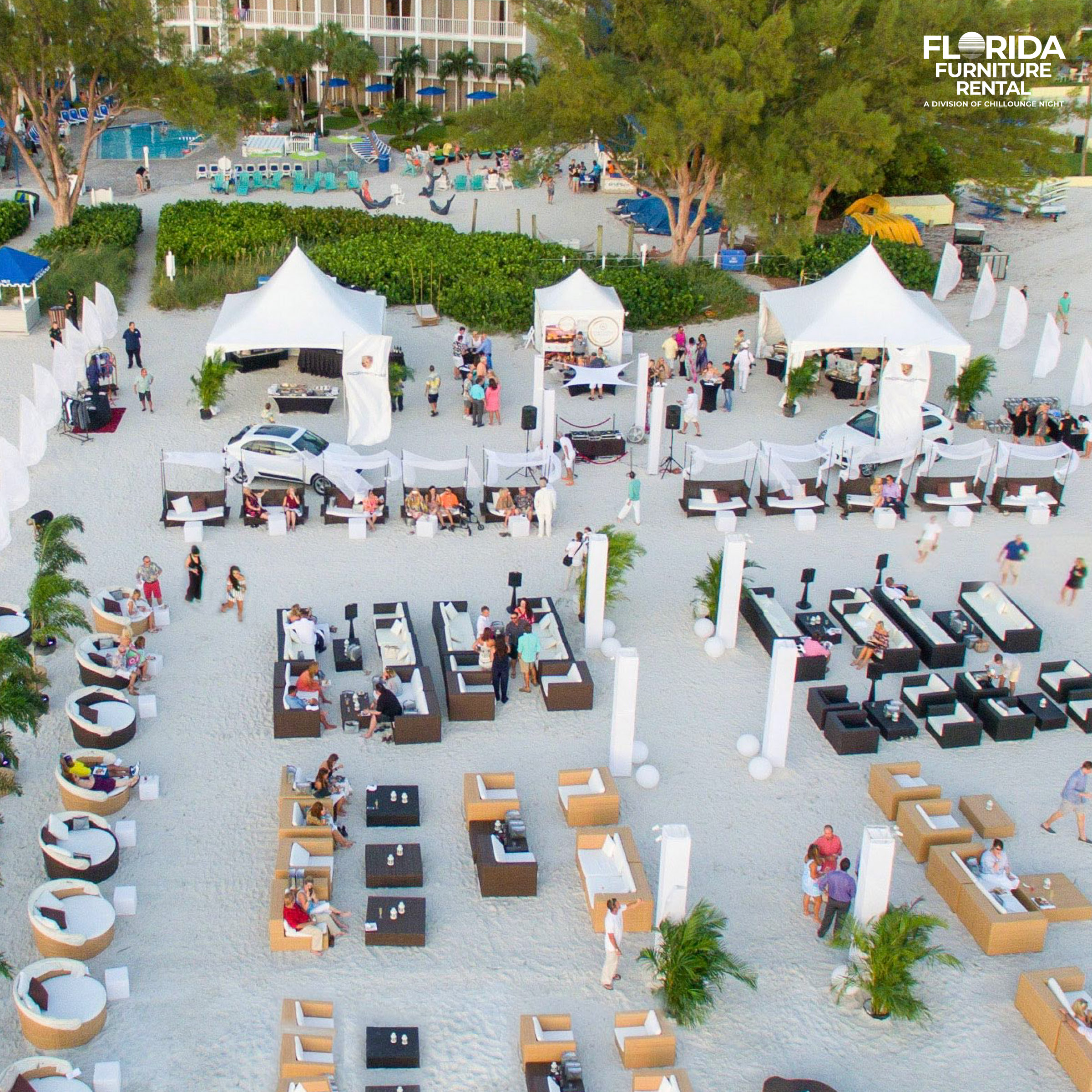 Lounge Furniture Rentals for Events in Miami